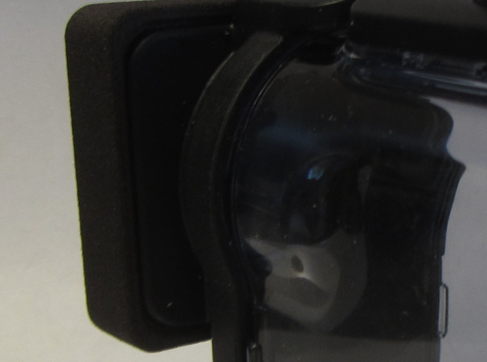 Sony MPK-UWH1 Lens cap 3d printed White S&F Polished Dyed black with Fiebing leather dye