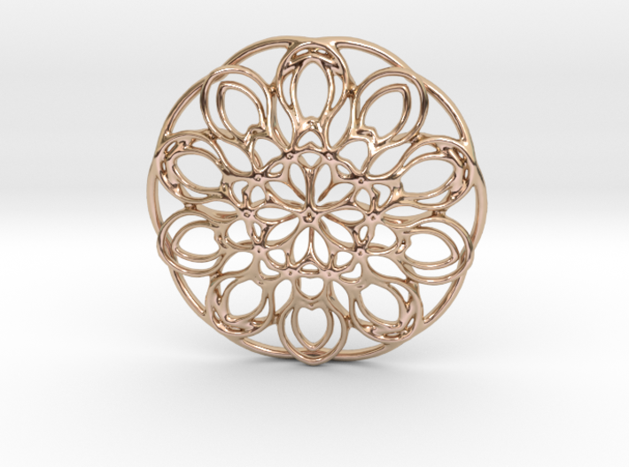 Mixed Flowers 3d printed