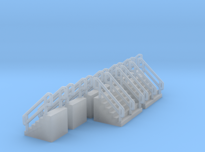 Z Scale Concrete Stairs Ken 3d printed
