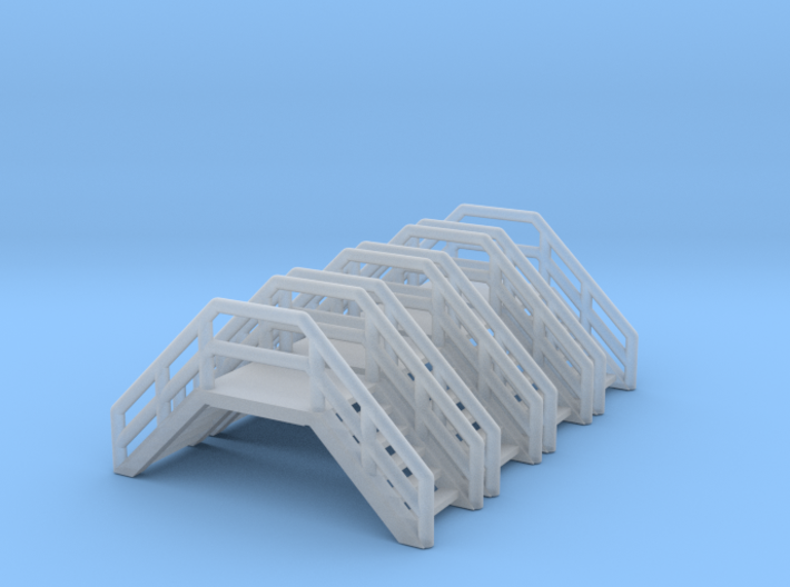 Z Scale Crossover Stairs (4pc) 3d printed