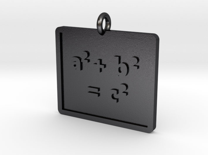 Pythagorean Theorem Pendant 3d printed