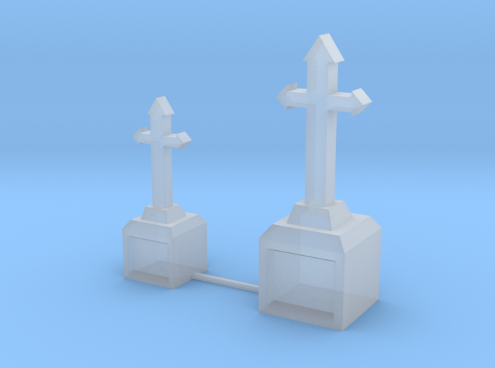 Tombstone Crosses 3d printed