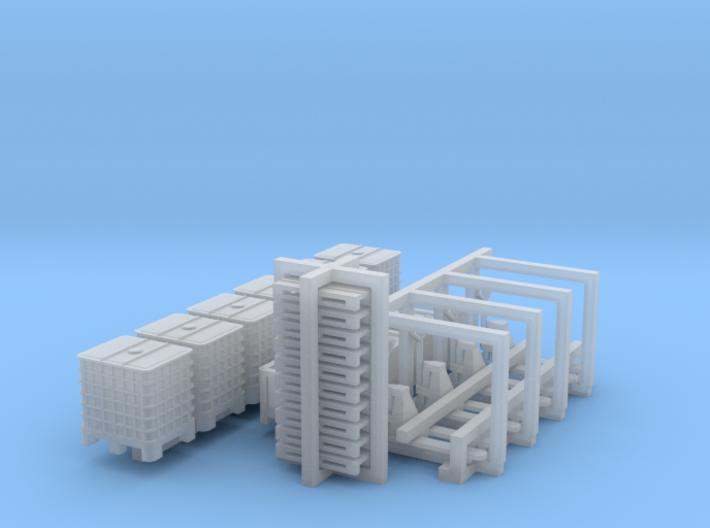 1:144 logistics set 3d printed