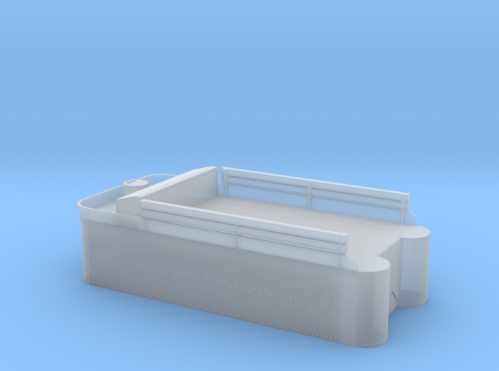 Class 56, 60, or C-16 tender tank, with rivets 3d printed
