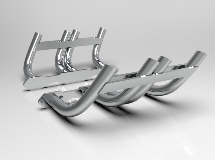1:8 Zoomie Style Headers for Small Block Chevy 3d printed 3D Render Shown