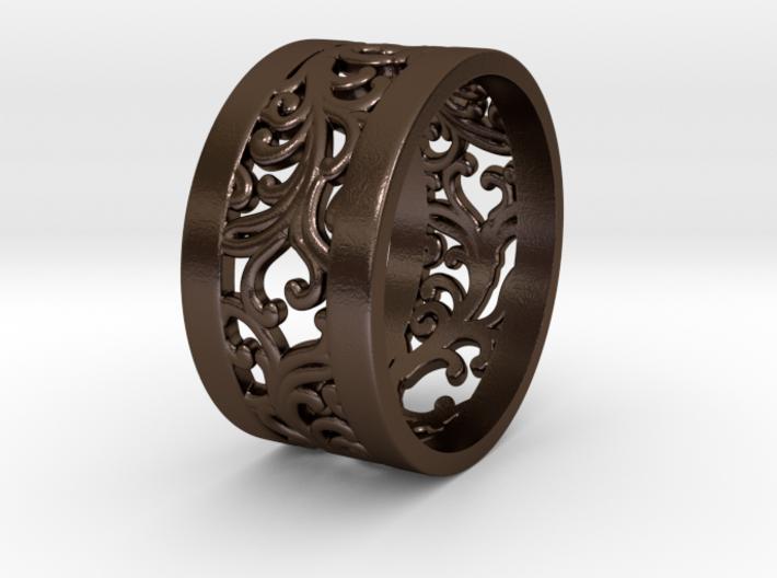 Ring Ornamental Plants V2 size 20mm 3d printed