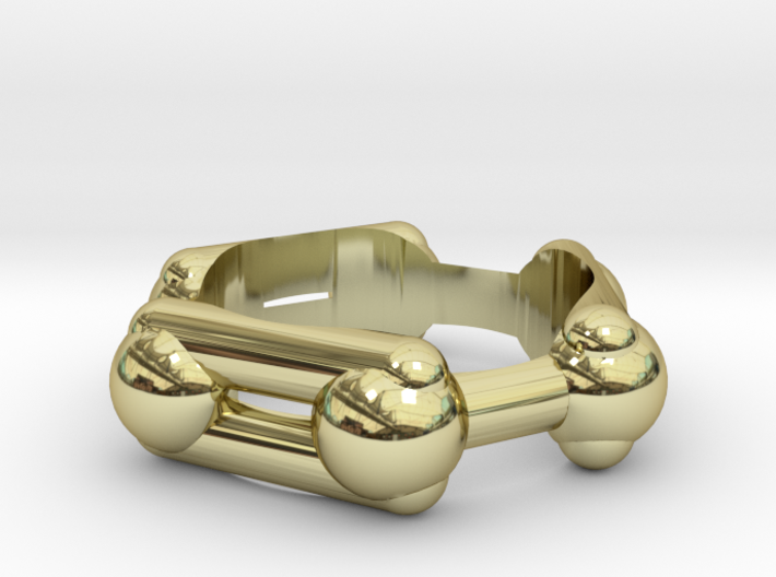 Benzene Ring Molecule Ring 3D 3d printed