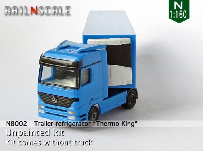 "Trailer refrigerator ""Thermo King"" (N 1:160) 3d printed"
