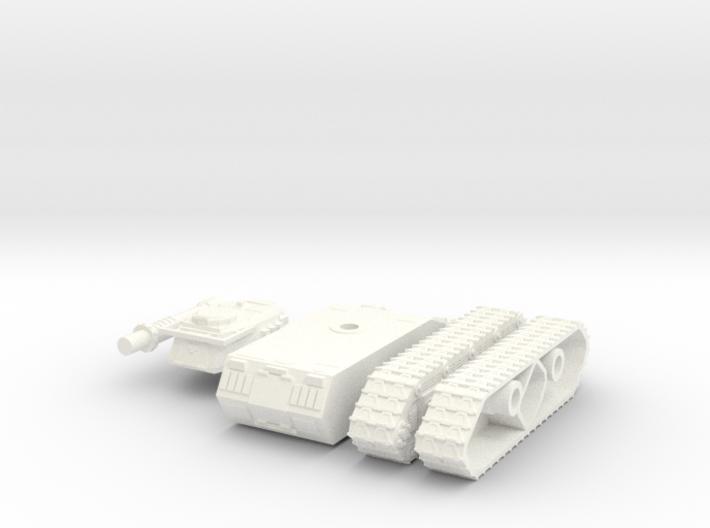 15mm MST Tiran tank 3d printed