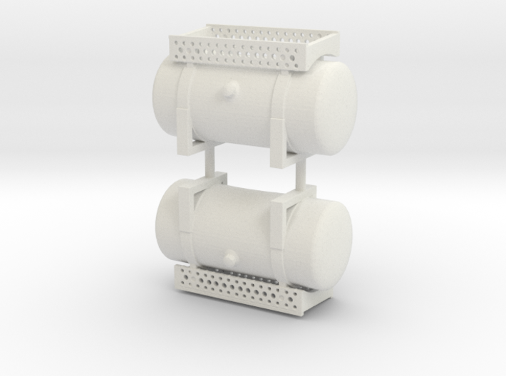 """1/32 48"""" round fuel tanks with steps 3d printed"""