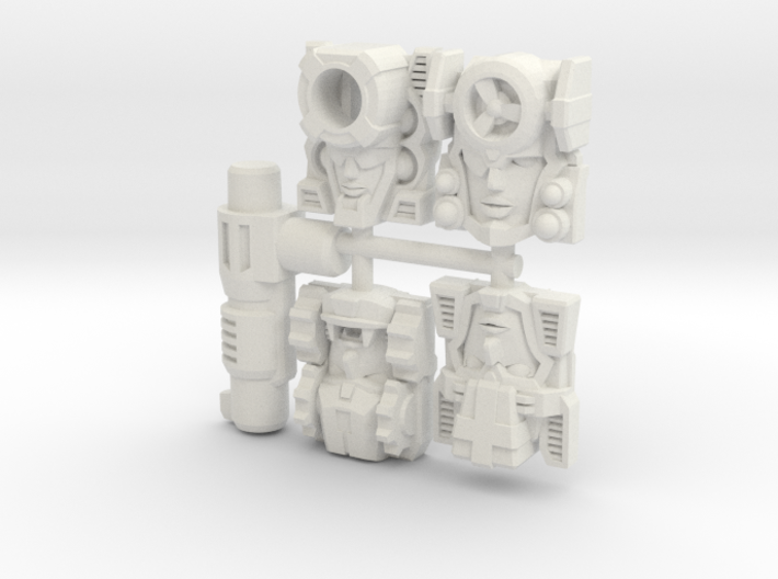 Fembot Faces Four Pack 3d printed