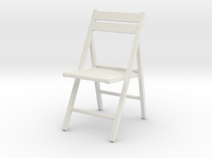 1:24 Wooden Folding Chair 3d printed