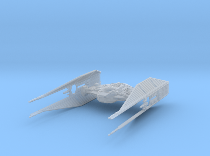 TIE_Silencer_parts 3d printed