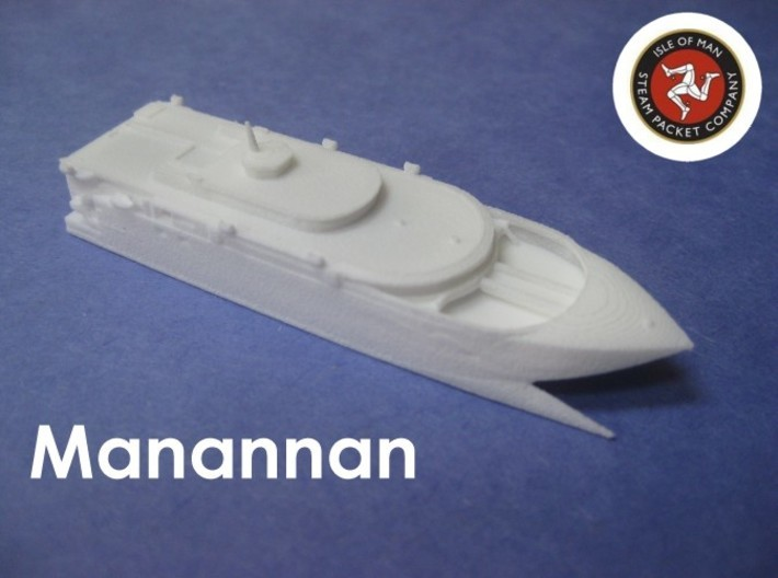 HSV-X1 Joint Venture (1:1200) 3d printed Photo shows Manannan, which this model is based on