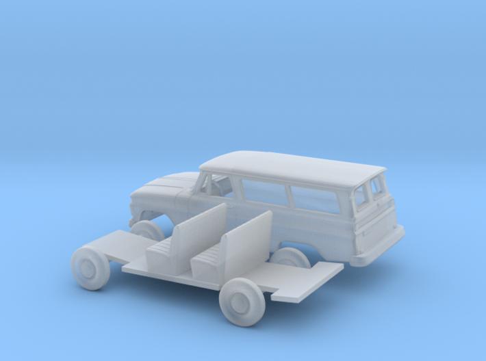 1/120 1963-66 Chevrolet Suburban Split Door Kit 3d printed