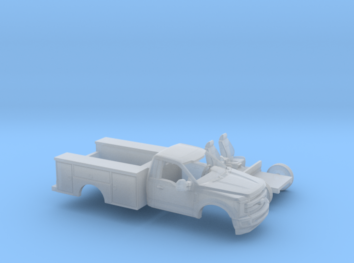 1/120 2017 Ford F-Series Reg Cab Utility Bed Kit 3d printed