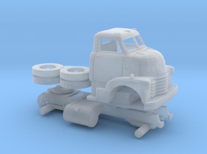 1/120 1949 Chevy COE Semi Truck Kit 3d printed