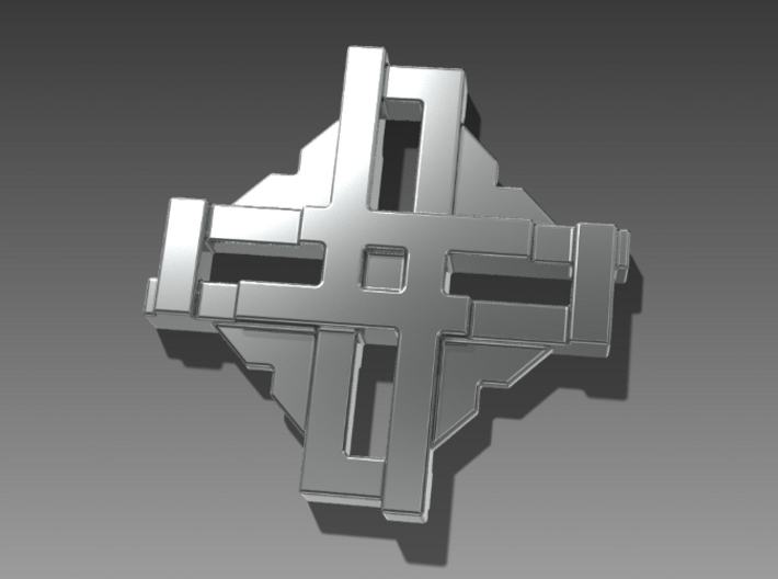 Digital Cross Amulet 3d printed
