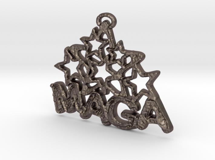MAGA & Stars Pendant 3d printed