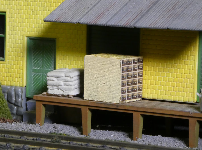 Pear Shipping Boxes HO Scale 3d printed Finished boxes