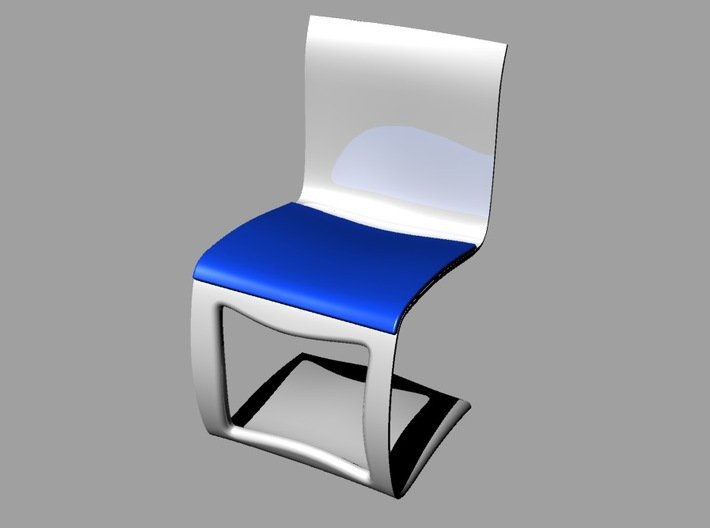 moder design chair 3d printed