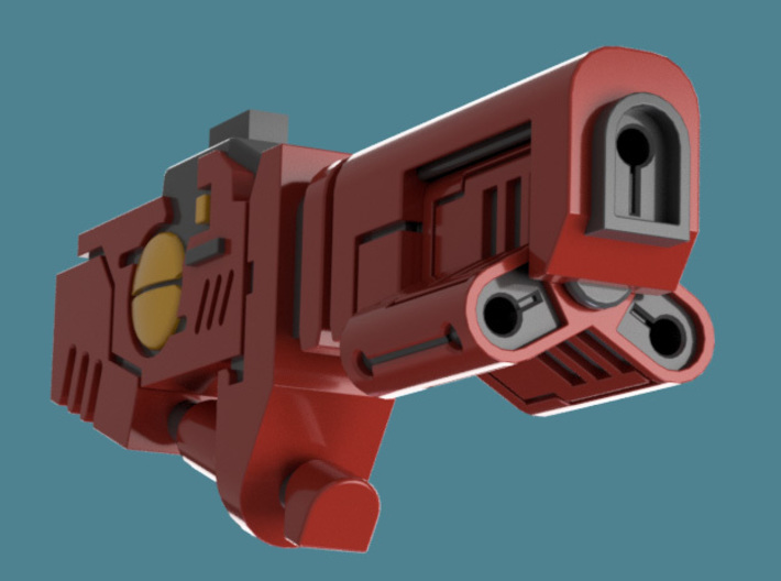 Cyclic Ion Blaster bits, pack of 4/6/9/10/13 3d printed A single weapon's render 2