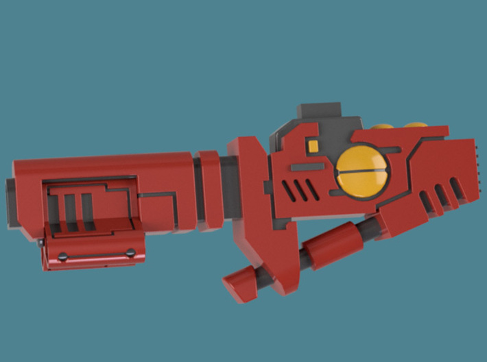Cyclic Ion Blaster bits, pack of 4/6/9/10/13 3d printed A single weapon's render 3