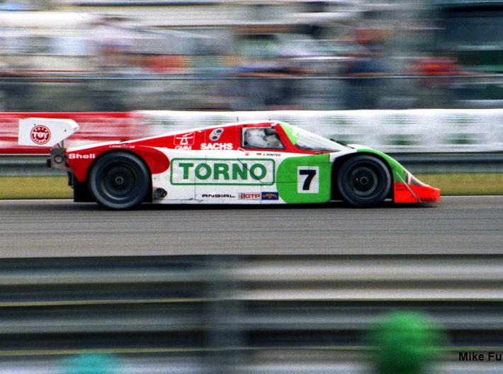 Joest Porsche 962C Long Chord Single-Element Wing, 3d printed Sebring 1992