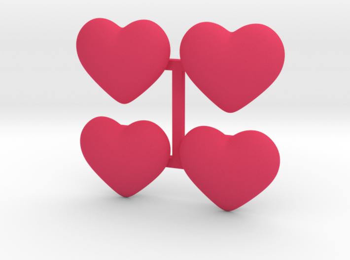Rail_Badge_Heart 4 set 3d printed