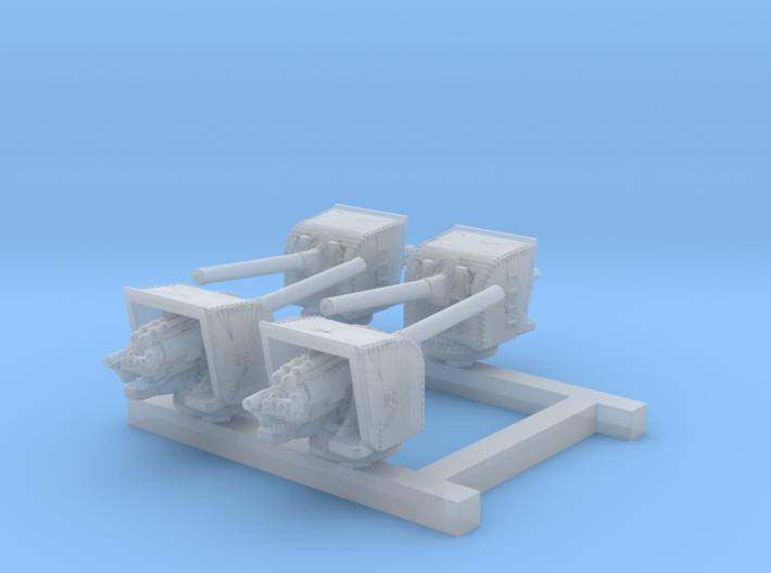 """1/700 5.5"""" MKI Guns Ports Open x4 3d printed 1/700 5.5"""" MKI Guns Ports Open x4"""