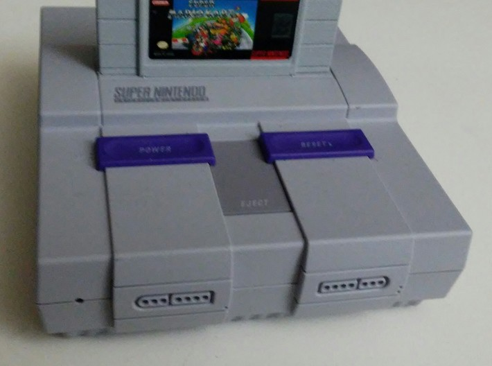 Solid SNES classi mini cartridge 3d printed Finished cartridge - painted and labeled