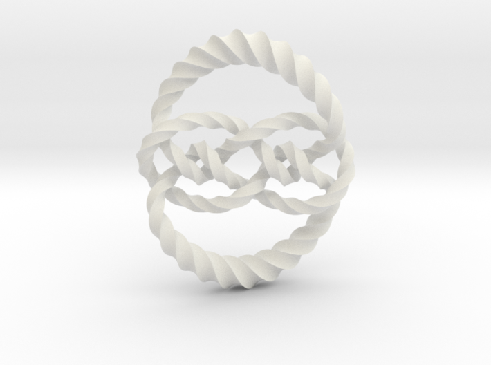 Knot 10₁₂₀ (Twisted square) 3d printed