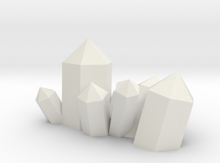 Crystal Cluster Style #5 (28mm Scale) 3d printed