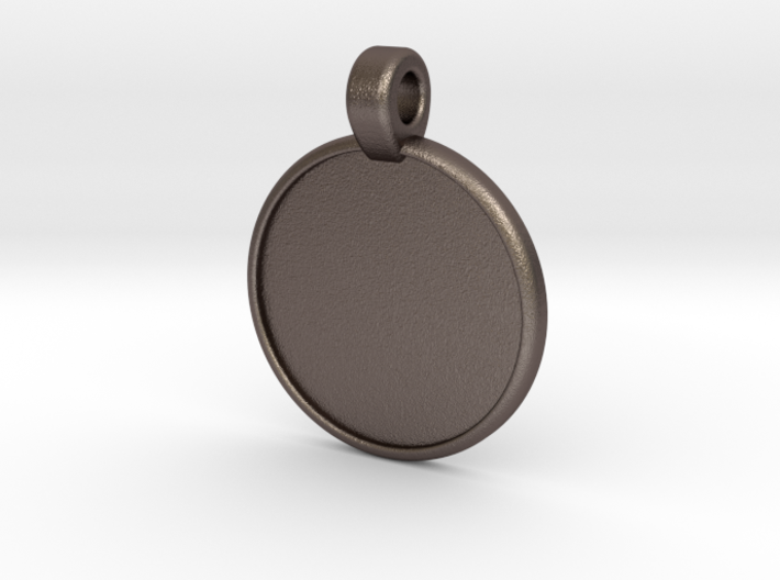Embossed Text #1 - Customizable Blank Pendant 3d printed