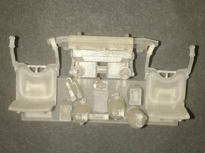 T29 T30 T34 interior driver Takom HobbyBoss 3d printed assembled - top view