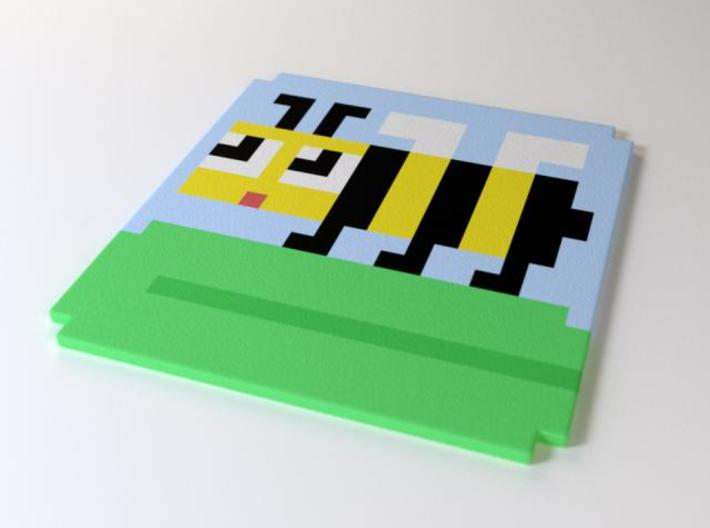 8-bee coaster 3d printed Exclusive 8-bit coaster by the Sevensheaven studio