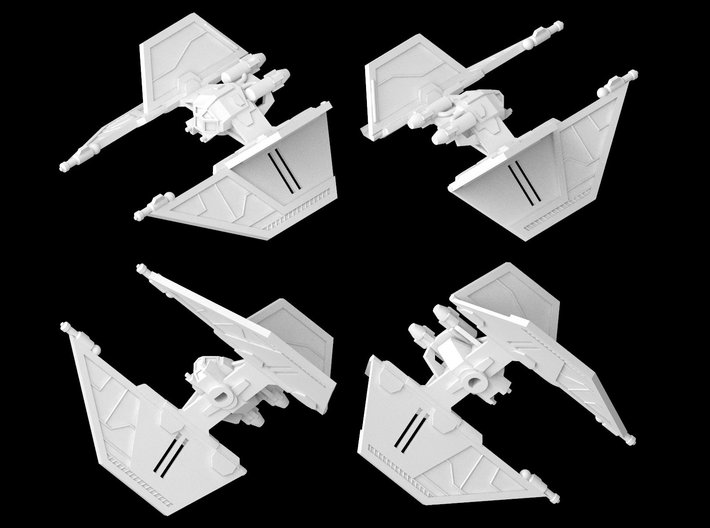 Mk VI Interceptor / S-12 Blackbolt (1/270) 3d printed