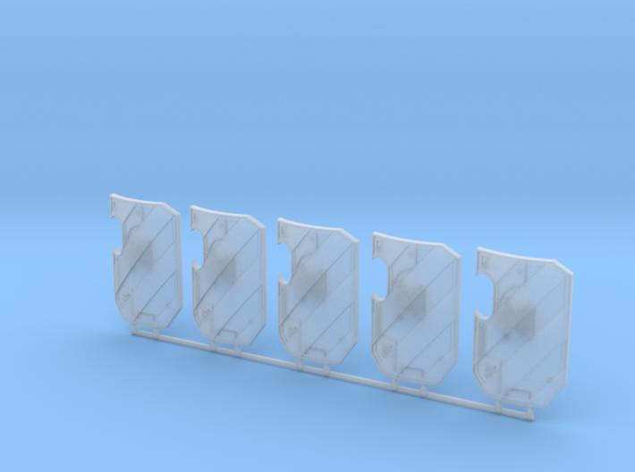 5x Hazard Stripes - Marine Boarding Shields w/Hand 3d printed