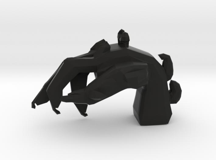 Imp's hand pendant 3d printed
