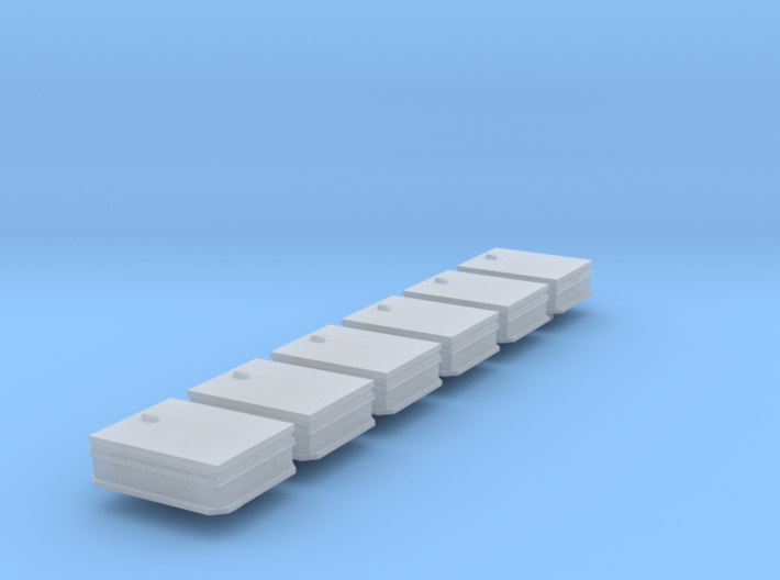 HO Scale 6x Roof hatch 3d printed