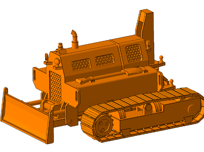 1/87th Remote control tracked mobile home tug 3d printed