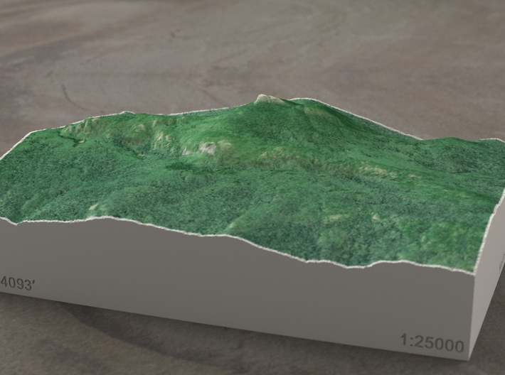 Camels Hump, Vermont, USA, 1:25000 Explorer 3d printed