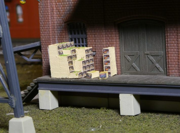 Pear Shipping Boxes HO Scale 3d printed