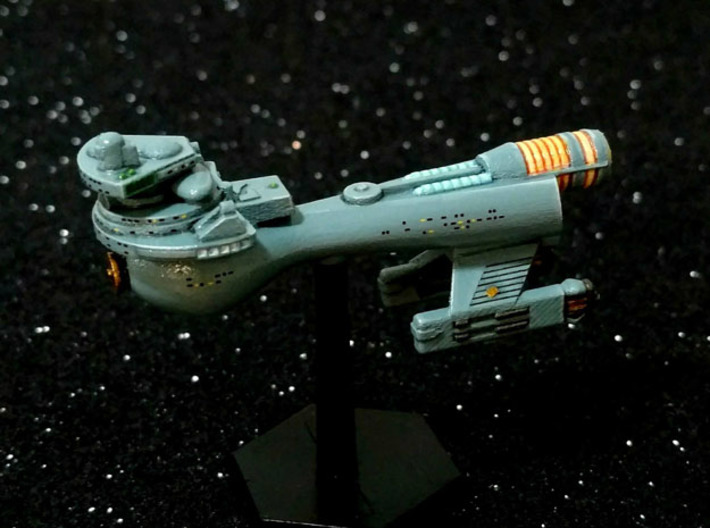 3788 Scale Klingon B10B Boom WEM 3d printed Ship is in Smooth Fine Detail Plastic and painted by a fan.