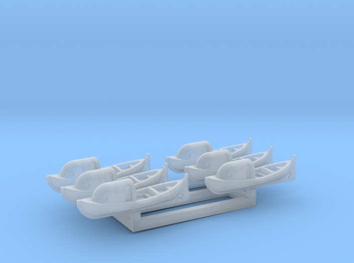 US Navy 26ft motor whaleboat with canopy 1/700 3d printed