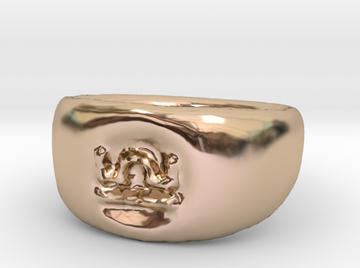 Libra Ring sz8 3d printed