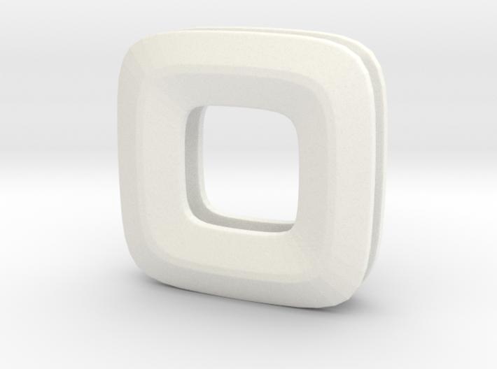 Unite ::: Square Pendant ::: v.01 3d printed