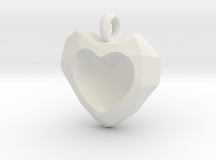 Frozen Heart Pendant 3d printed