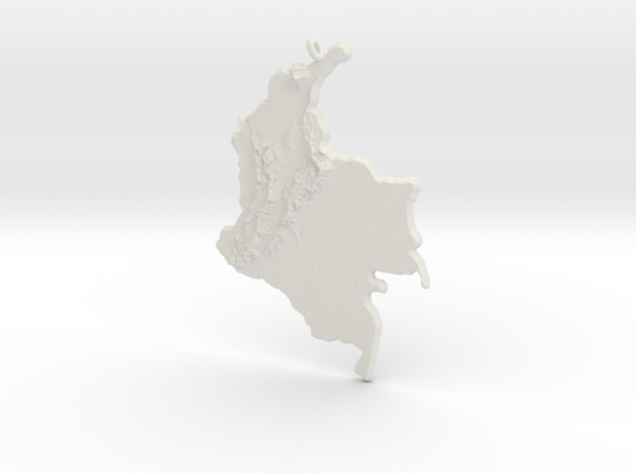 Colombia Christmas Ornament 3d printed