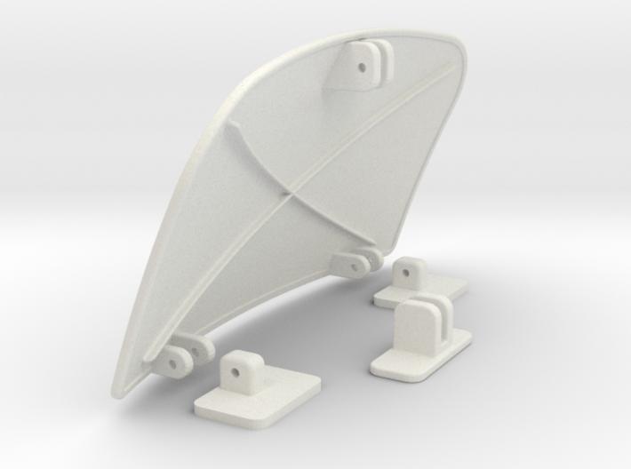 Air-dam-assy-1to16 3d printed